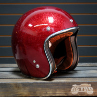 Torc T-50 Superflake Red Moto Helmet - Overview