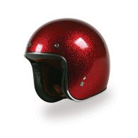Torc T50 Motorcycle Helmet with Red Metalflake Paint