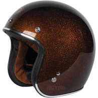 Torc T50 DOT-Approved Open Face Motorcycle Helmet with Root Beer Metalflake Paint