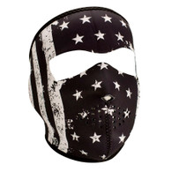 Zan Headgear Full Face Mask - Black & White Vintage Flag