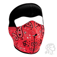 Zan Headgear Full Face Mask - Red Bandanna