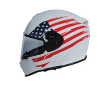 Torc T-14 Full Face helmet with American Flag Pattern