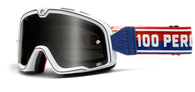 100% Barstow White Motorcycle Goggles - Front