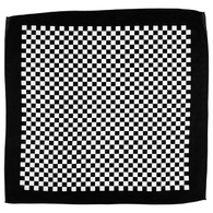 Biltwell Checkers Bandana in Black and White