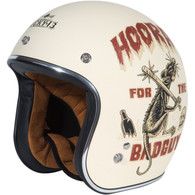 Torc T50 Motorcycle Helmet T50 Dirty Rat Flat White - Front