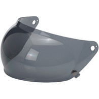 Smoke Biltwell Retractable Bubble Shield for Gringo-S Helmets - Side