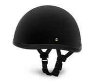 Flat Black Daytona Smokey Novelty Helmet - Left Side with straps