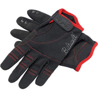 Biltwell Moto Gloves in Black and Red - Top of Pair