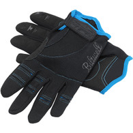 Biltwell Moto Gloves in Black and Blue - Top of Both
