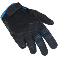 Biltwell Moto Gloves in Black and Blue - Top