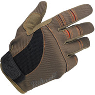 Biltwell Moto Gloves in Brown and Orange - Single Top