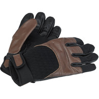 Biltwell Bantam Gloves in Chocolate and Black - Pair