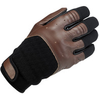 Biltwell Bantam Gloves in Chocolate and Black - Top