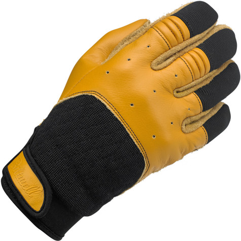 Biltwell Bantam Riding Gloves in Tan and Black - Outside