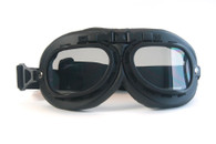 BTB10T Aviator Goggles, Black with Smoked Lenses