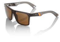 100% Noyce Sunglasses in Carbon Fade with Bronze lenses - Angle
