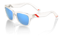 100% Atsuta Sunglasses in Ice Pick with Blue Mirrored Lenses - Angle
