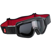 Biltwell Overland Goggles with Smoke Lens in Black/Red - Front Right
