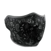 ZAN Half Mask in Dark Paisley design
