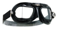 Halcyon Mark 49 Racing Goggle with All Black Leather Trim
