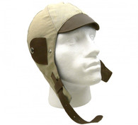 Halcyon Brooklands Style Motor Motorcycle Racing Cap in Canvas with Leather Trim