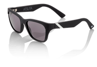 100% Atsuta Sunglasses in Soft Touch Black with Grey Lenses - Angle
