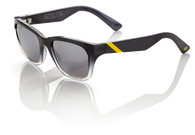 100% Atsuta Sunglasses in Black Fade with Silver Mirrored Lenses - Angle