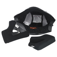 Biltwell Gringo and Gringo-S Helmet Replacement Liner kit in Black/Silver