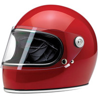 Biltwell Gringo-S Full Face Motorcycle Helmet in Gloss Blood Red - Front Left