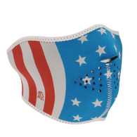 Zan Neoprene Half Mask in Glow in the Dark Stars/Stripes Pattern - Overview