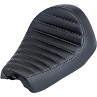Biltwell Champion Seat Finished in Black Horizontal Tuck & Roll - Overview