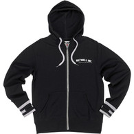 Biltwell Basic Zip Hoodie in Black - Front