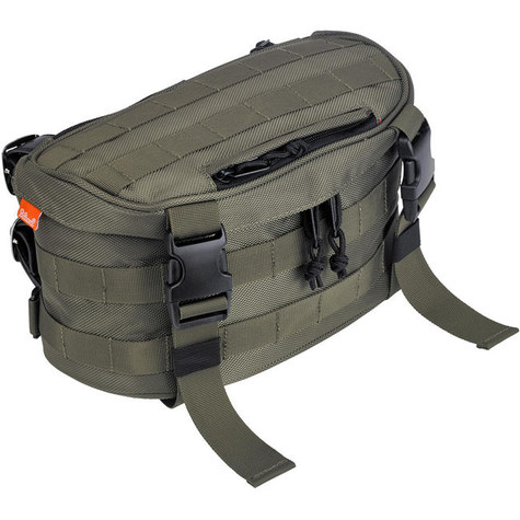 Biltwell EXFIL-7 Motorcycle Storage Bag in OD Green - Front Angle