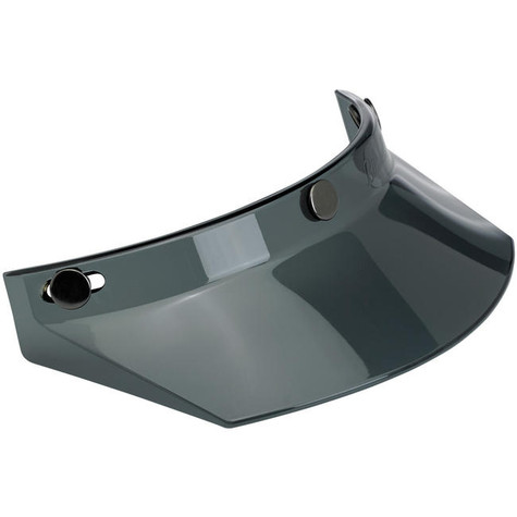Biltwell Moto Visor in Translucent Smoke - Front Right