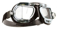 Halcyon Mark 9 Deluxe Aviator Motorcycle Goggle in Black