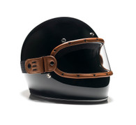 Equilibrialist Knox Maska Visor for Biltwell Gringo Helmets - Tan Trim with Clear Lens