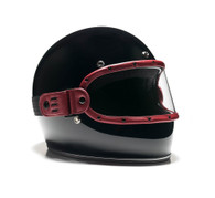 Equilibrialist Knox Maska Visor for Biltwell Gringo Helmets - Burgundy Trim with Clear Lens