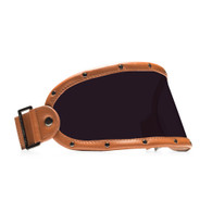 Equilibrialist Knox Visor for Gringo Helmets with Tan Trim and Tinted Lens