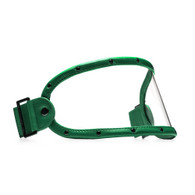 Equilibrialist Knox Visor for Gringo Helmets with Hunter Green Trim and Clear Lens