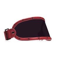 Equilibrialist Knox Visor for Gringo Helmets with Burgundy Trim and Tinted Lens