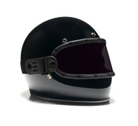 Equilibrialist Knox Maska Visor for Biltwell Gringo Helmets - Black Trim with Tinted Lens