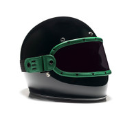 Equilibrialist Knox Maska Visor for Biltwell Gringo Helmets - Hunter Green Trim with Tinted Lens