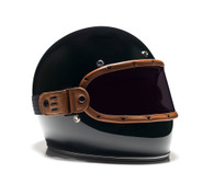 Equilibrialist Knox Maska Visor for Biltwell Gringo Helmets - Tan Trim with Tinted Lens