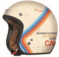 Torc DOT 3/4 Motorcycle Helmet with Flat Cream Pacific paint scheme - Left Side
