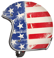 Torc DOT 3/4 Motorcycle Helmet with Old Glory American Flag paint scheme