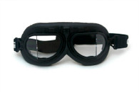RBG Aviator Goggles in Black with Black trim and Clear Angled Lens