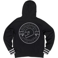 Biltwell Icon Zip Hoodie in Black - Rear