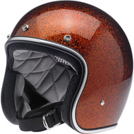 Biltwell Bonanza 3/4 DOT-Approved Motorcycle Helmet in Rootbeer Megaflake - Left Overview