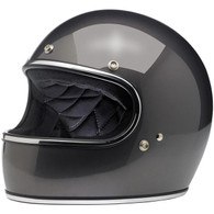 Biltwell Gringo Full Face Helmet in Charcoal Metallic - Left Overview
