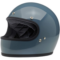 Biltwell Gringo Full Face Helmet in Gloss Baja Blue - Left Overview